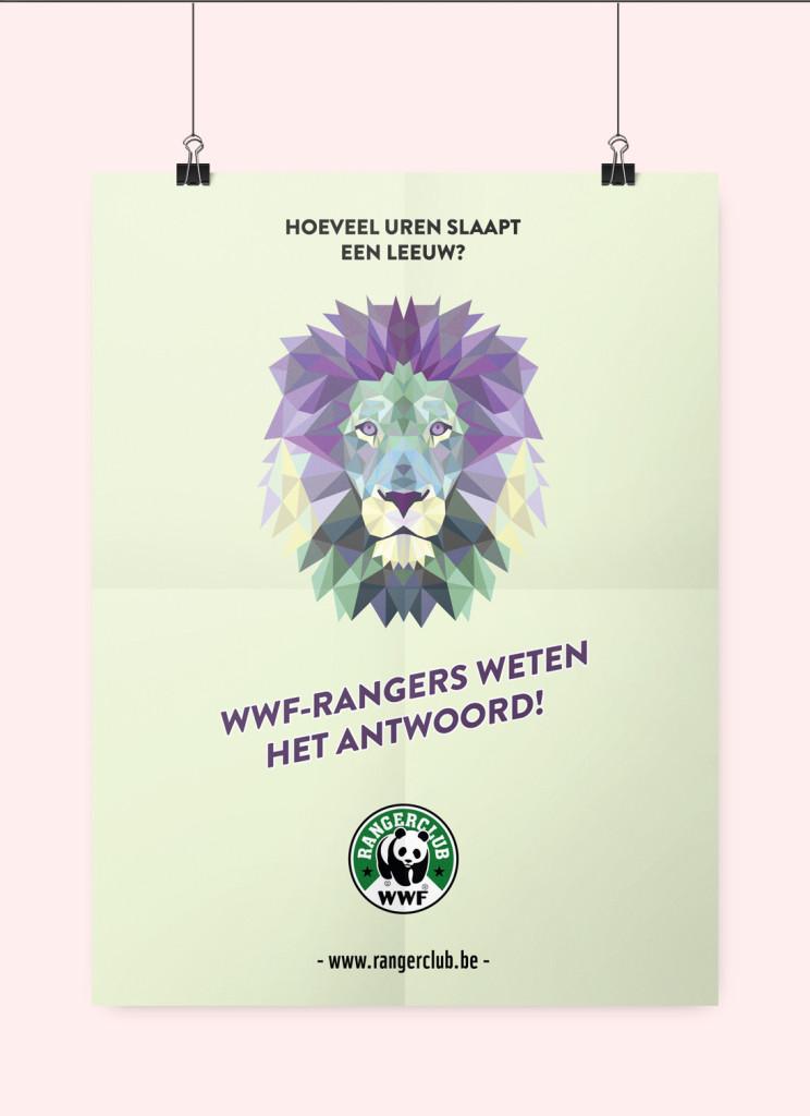 wwf leeuw poster