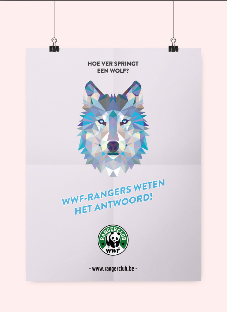 wwf wolf poster